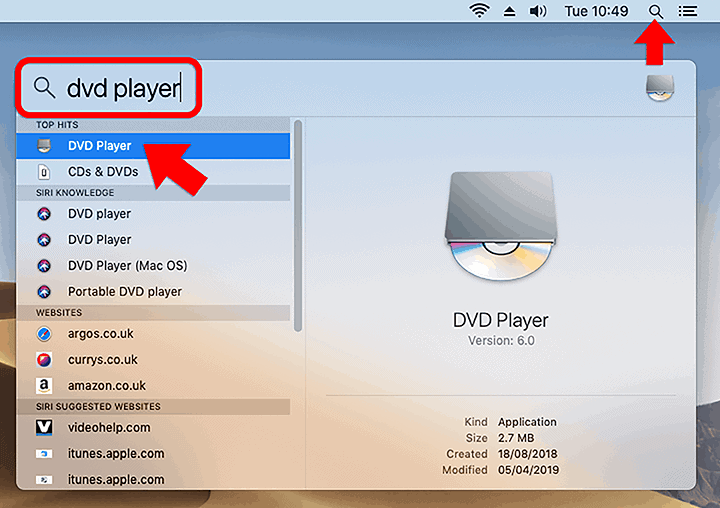 Dvd player mojave
