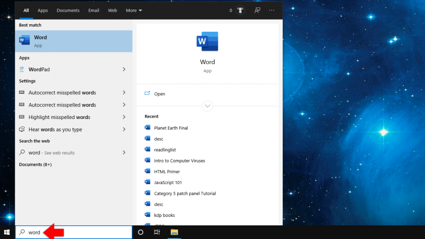 search for files windows 10
