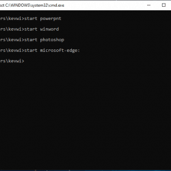 Open Windows 10 Apps from Command Line