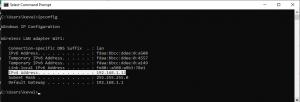 ipconfig ip address