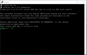 SSH server using PuTTY