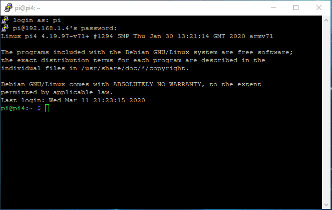 Using SSH in Windows 10