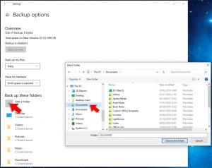 Add folder in file history