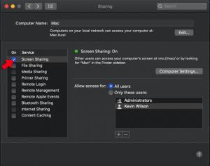 enable screen sharing macos