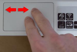 Chromebook gesture
