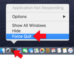 macos force quit from dock