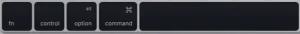 command key and option key