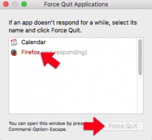 macos force quit applications window