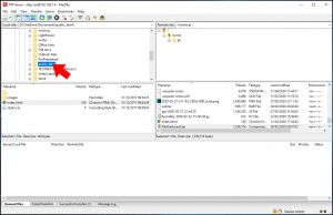 FileZilla download file