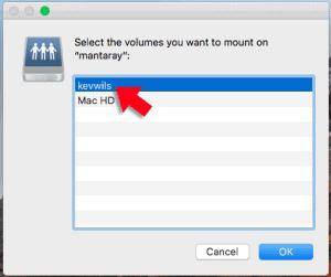 macos select volume file sharing