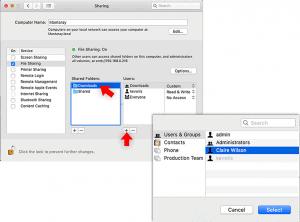 macos file sharing