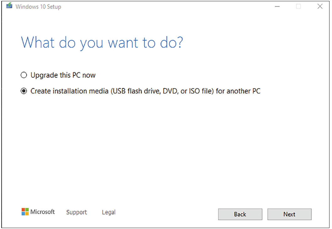 installation media for another Pc