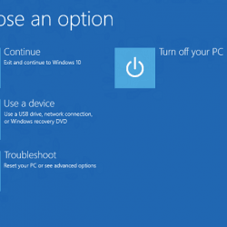 Booting to Windows 10 Recovery Environment