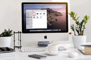 MacOS running on an iMac