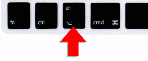 option key on mac keyboard