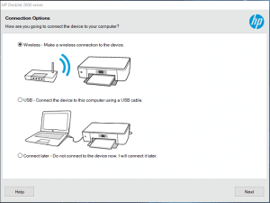 select wireless connection method