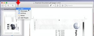 share scanned pdf in preview
