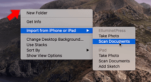 scan document with continuity camera macos
