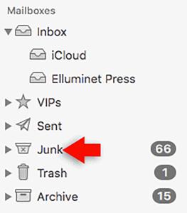 macos junk mail folder